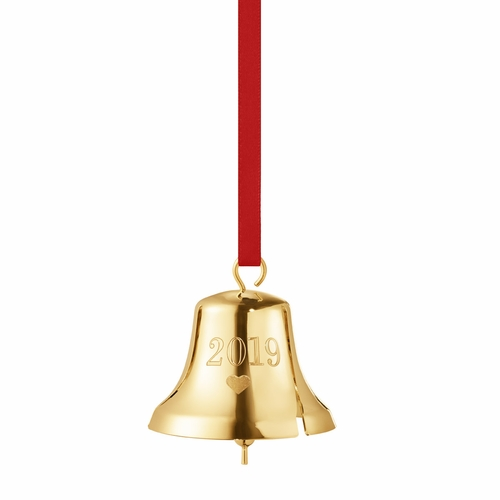2019 Christmas Bell, Gold Plated