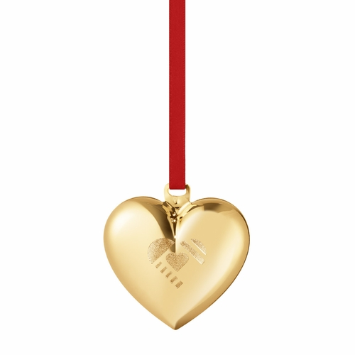 2019 Christmas Heart, Gold Plated