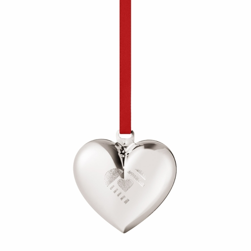 2019 Christmas Heart, Palladium Plated