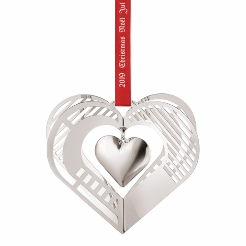 2019 Christmas Mobile Heart, Palladium Plated