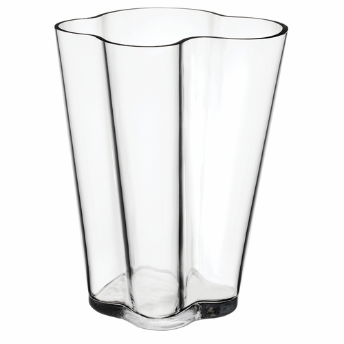 "Aalto Vase 10.5"", Clear"