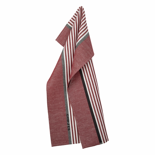 Abild Tea Towel, Red - Woven with God Jul (Merry Christmas)
