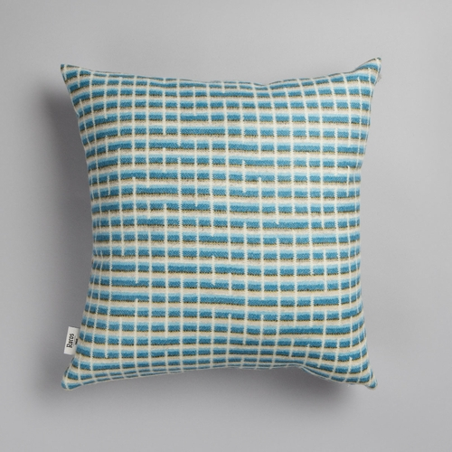 "Roros Tweed Agnes Wool Cushion, Blue - 20"" x 20"""