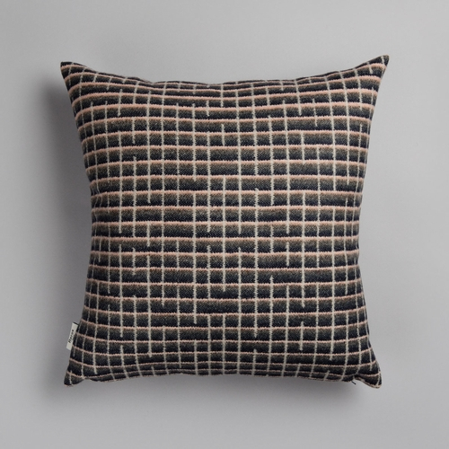 "Roros Tweed Agnes Wool Cushion, Grey - 20"" x 20"""