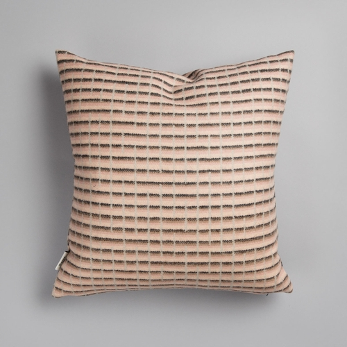 "Roros Tweed Agnes Wool Cushion, Pink - 20"" x 20"""