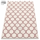 Pappelina Ants Plastic Rug - Rose Taupe/Vanilla, 2 1/4' x 11 3/4'