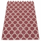 Pappelina Ants Plastic Rug - Rose Taupe/Vanilla, 2 1/4' x 6'