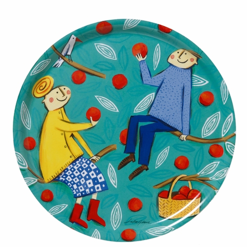 Bengt & Lotta Apple Tree Round Tray - 12.2""