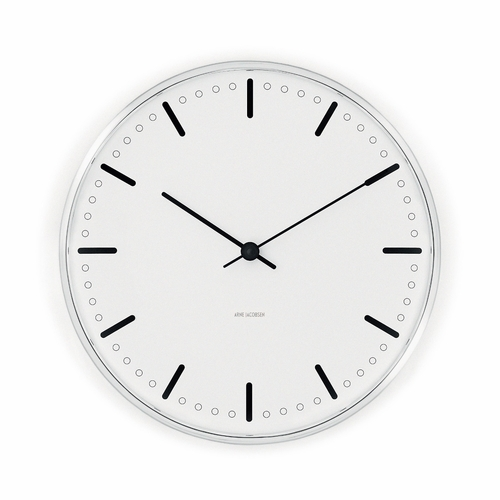 "Arne Jacobsen City Hall Wall Clock (11.4"" Dia.)"