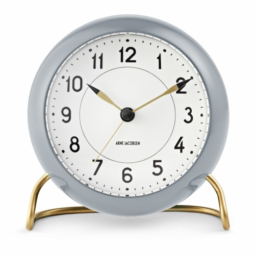 Rosendahl Arne Jacobsen Station Table Clock, Grey