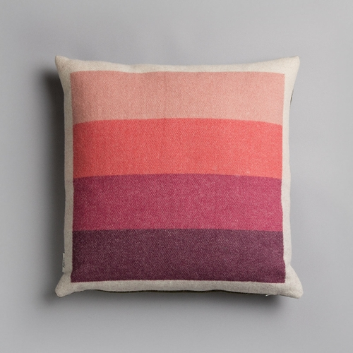 "Roros Tweed Asmund Bold Wool Cushion, Pink/Green - 20"" x 20"""