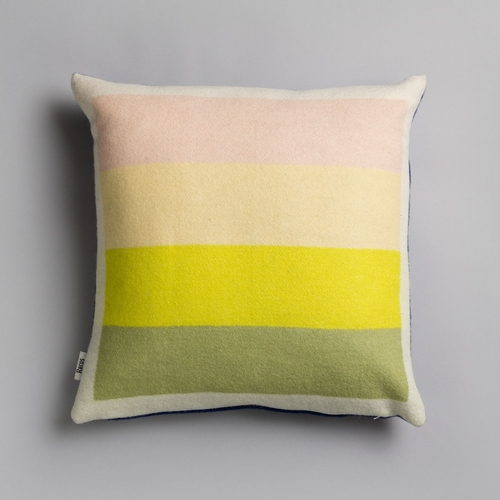 "Asmund Bold Wool Cushion, Yellow/Blue - 20"" x 20"""