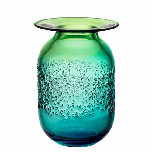 Kosta Boda Aurora Vase, Medium - Blue/Green