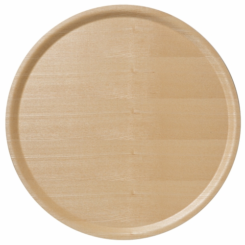 B&L Wood Large Round Tray, Ash
