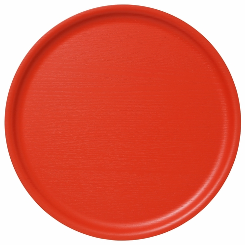 Bengt & Lotta B&L Wood Large Round Tray, Coral - 17.7""