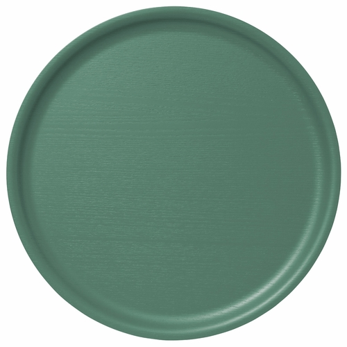 B&L Wood Large Round Tray, Dusty Green