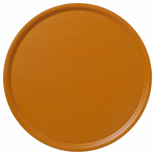 B&L Wood Large Round Tray, Dusty Yellow