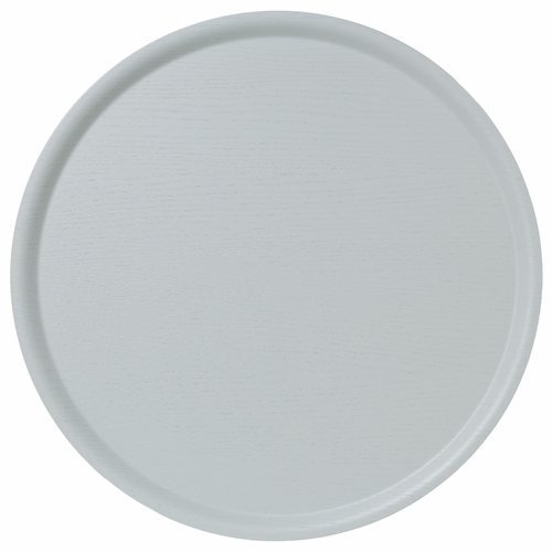 Bengt & Lotta B&L Wood Large Round Tray, Light Blue - 17.7""