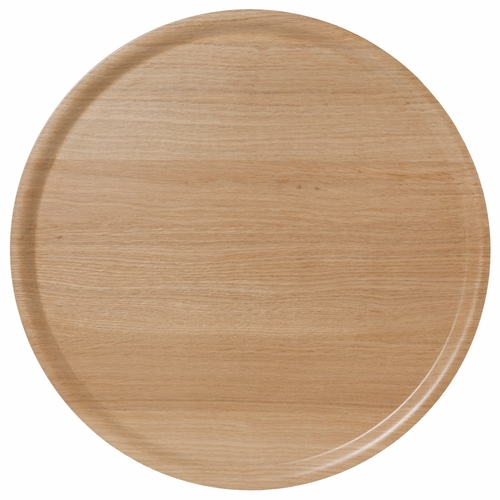 Bengt & Lotta B&L Wood Large Round Tray, Oak - 17.7""
