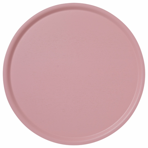 B&L Wood Large Round Tray, Pink