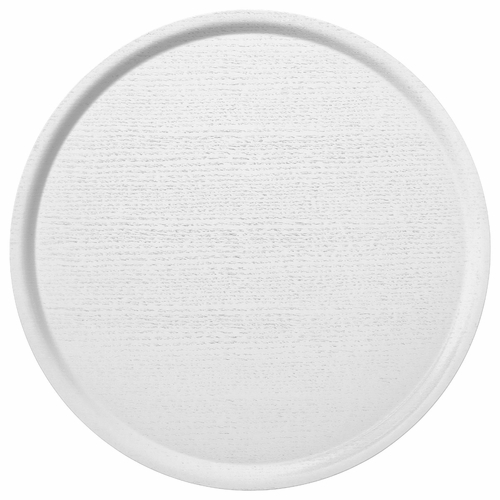 Bengt & Lotta B&L Wood Large Round Tray, White - 17.7""