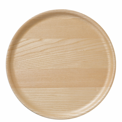 B&L Wood Round Tray, Ash