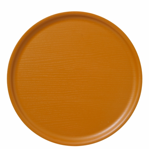 B&L Wood Round Tray, Dusty Yellow