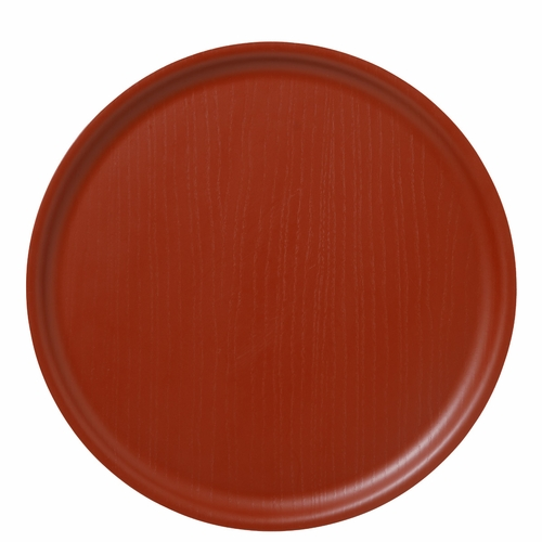 Bengt & Lotta B&L Wood Round Tray, Swedish Red - 13.78""