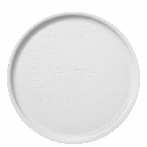 Bengt & Lotta B&L Wood Round Tray, White - 13.78""