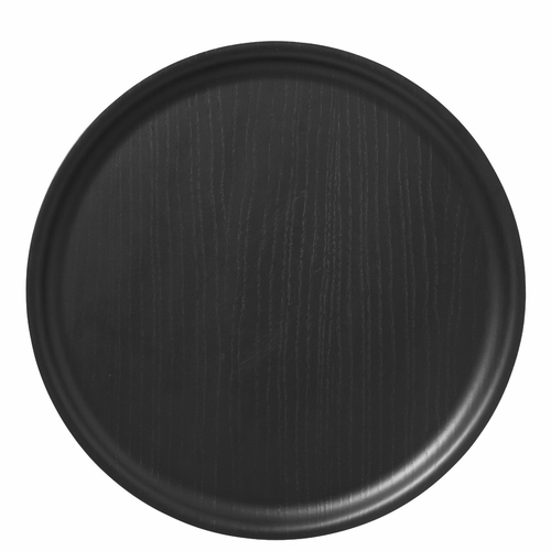 Bengt & Lotta B&L Wool Round Tray, Black - 13.78""