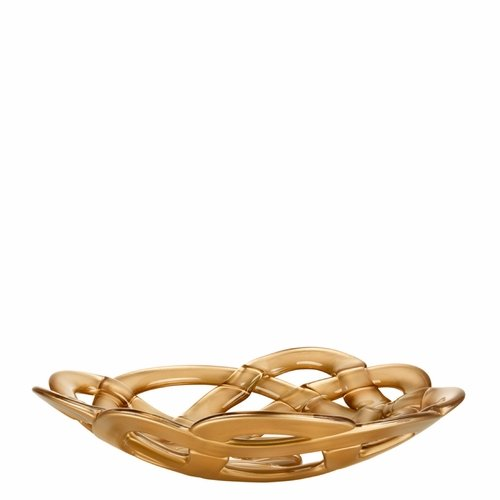 Basket Bowl, Large - Gold