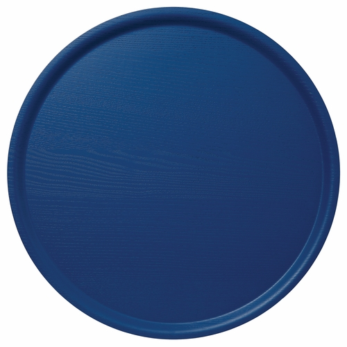 Bengt & Lotta B&L Wood Large Round Tray, Winter Blue, 17.7""