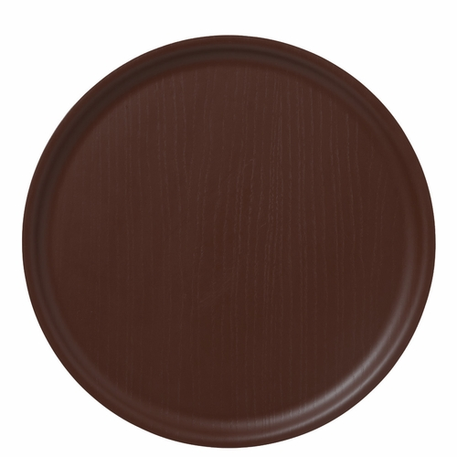 Bengt & Lotta B&L Wood Round Tray, Dark Chocolate - 13.78""