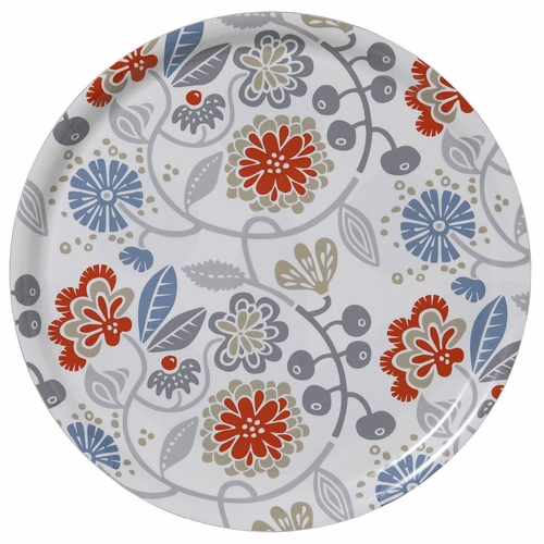 "Bengt & Lotta Carnation Round Tray - 15"" Diameter"