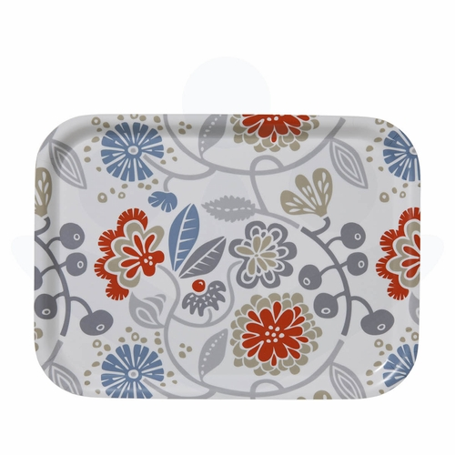 "Bengt & Lotta Carnation Small Rectangular Tray - 10.6"" X 8"""