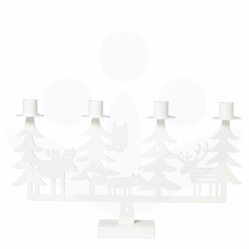 Bengt & Lotta Iron Christmas Forest Candleholder, White