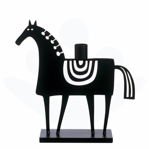 Bengt & Lotta Iron Swedish Horse Candleholder