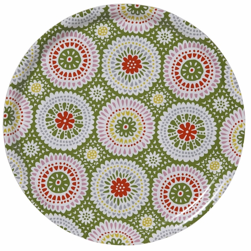 "Bengt & Lotta Louise Round Tray, Green - 15"" Diameter"