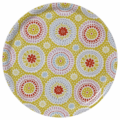 "Bengt & Lotta Louise Round Tray, Yellow - 15"" Diameter"
