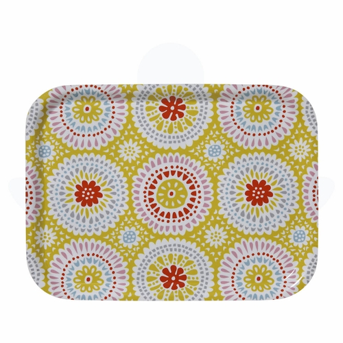 "Bengt & Lotta Louise Small Rectangular Tray, Yellow - 10.6"" X 8"""