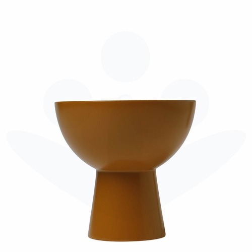 Bengt & Lotta Plateau Reversible Wood Candle Holder, Dusty Yellow