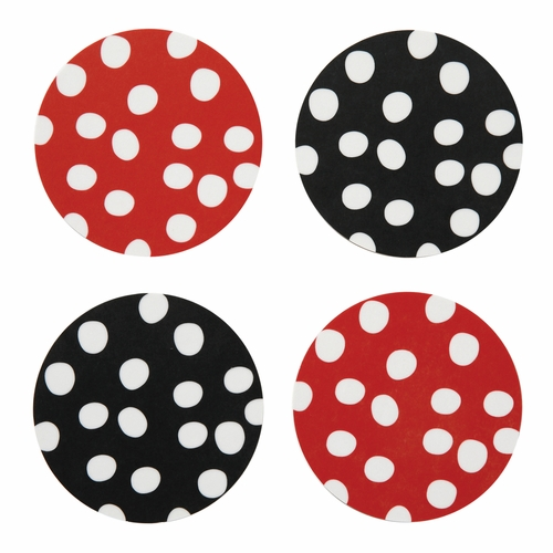 Bengt & Lotta Polka Dots Coaster Set of 4