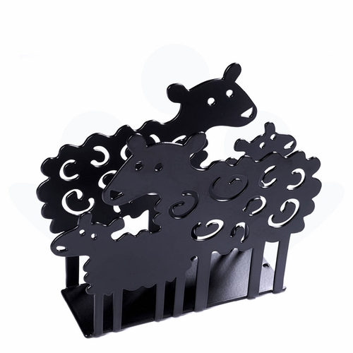 Bengt & Lotta Sheep Napkin Holder, Black