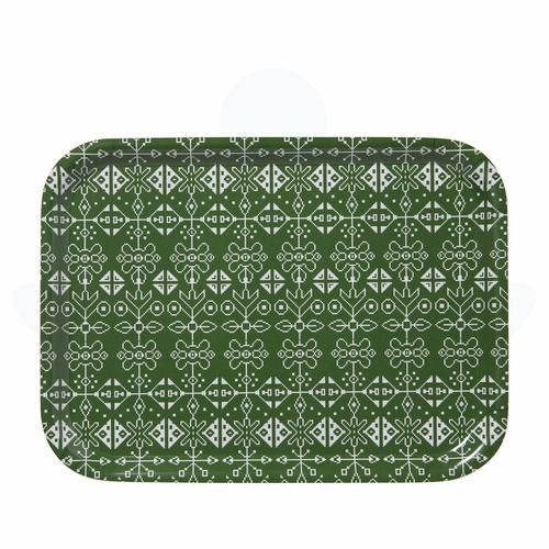 "Bengt & Lotta Tradition Rectangle Tray Green, 10.6"" X 8"""