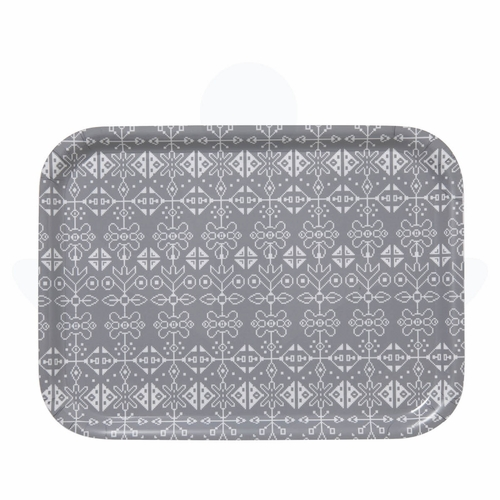 "Bengt & Lotta Tradition Rectangle Tray Grey, 10.6"" X 8"""