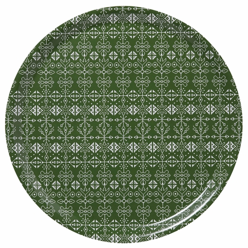 "Bengt & Lotta Tradition Round Tray Green - 15"" Diameter"