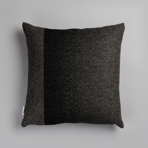 "Roros Tweed Berg Wool Cushion, Gray / Charcoal  - 20"" x 20"""