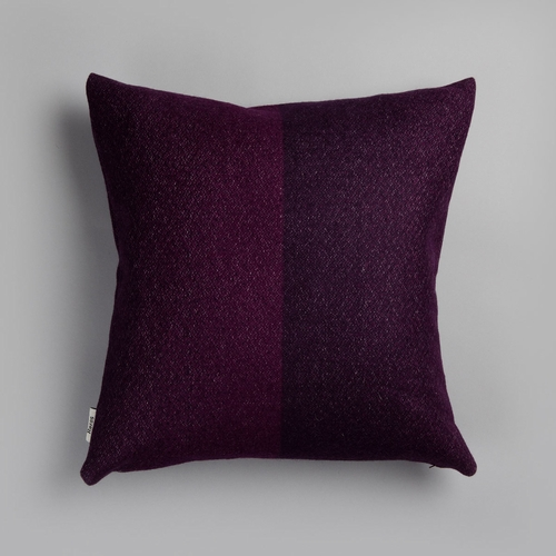 "Roros Tweed Berg Wool Cushion, Violet - 20"" x 20"""