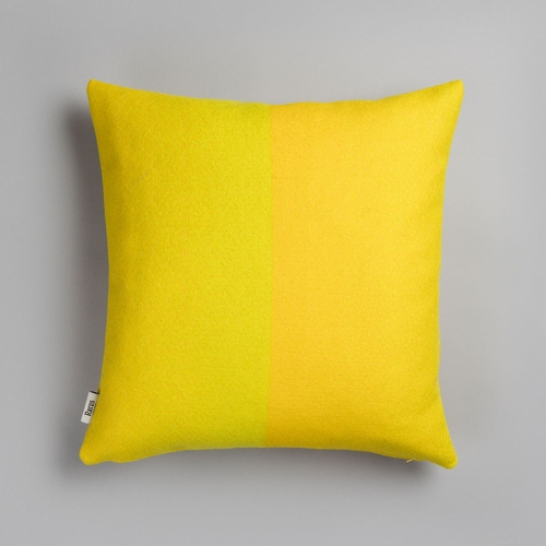 "Roros Tweed Berg Wool Cushion, Yellow - 20"" x 20"""