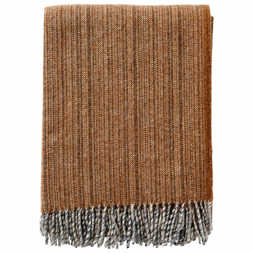 Bjork Brushed ECO Lambs Wool Throw, Cinnamon